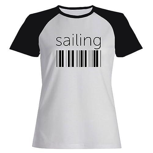 Idakoos Sailing barcode - Sport - Maglietta Raglan Donna