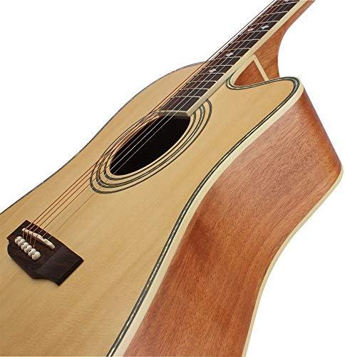 アコースティックギター スプルースSabiliギターをプレイする初心者のための楽器 小学生 大人用 ギター初級 (色 : Natural, Size : 41 inches)
