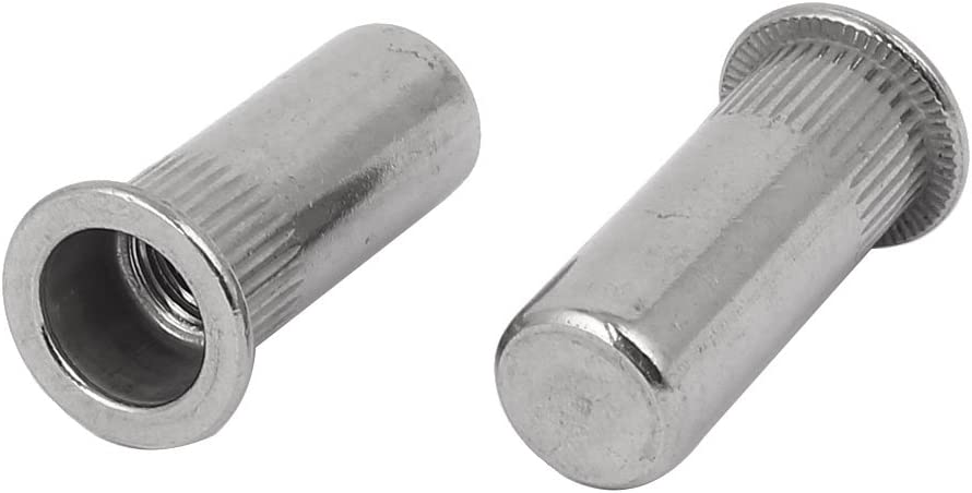 uxcell M10 x 34mm 304 Stainless Steel Closed End Blind Rivet Nut Insert Nutsert 5PCS