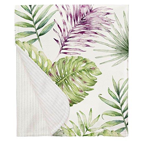 Carousel Designs Purple Painted Tropical Crib Blanket ()