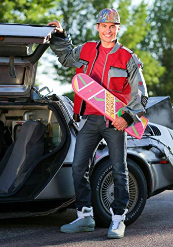 Men's Back to The Future Jacket Authentic Marty McFly Adult Costume Jacket Medium Red - http://coolthings.us