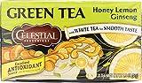 Celestial Seasonings Green Tea with White Tea Honey Lemon Ginseng 20 Tea Bags