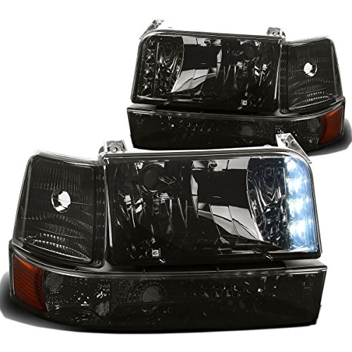 Bronco Grille Assembly Ford 96 (DNA Motoring HL-OH-F15092-6P-LED-SM-AM Headlight Assembly, Driver & Passenger Side)
