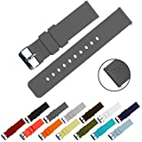 BARTON Quick Release - Choice of Colors & Widths (18mm, 20mm or 22mm) - Smoke Grey 22mm Watch Band Strap