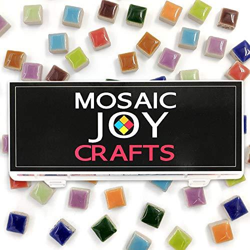 - Mosaic Tiles Mixed 10 Colors 11oz Ceramic Mosaic Square Pieces Supplies for DIY Crafts Home Decoration Arts by Mosaic Joy (10 Color Mix Square)