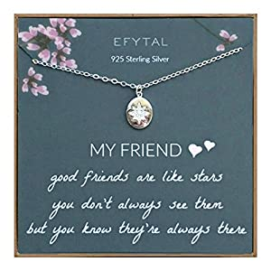 925 Sterling Silver Star Friendship Necklace
