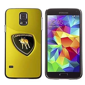 Caucho caso de Shell duro de la cubierta de accesorios de protección BY RAYDREAMMM - Samsung Galaxy S5 SM-G900 - Sports Car Bull Italian Racing Super