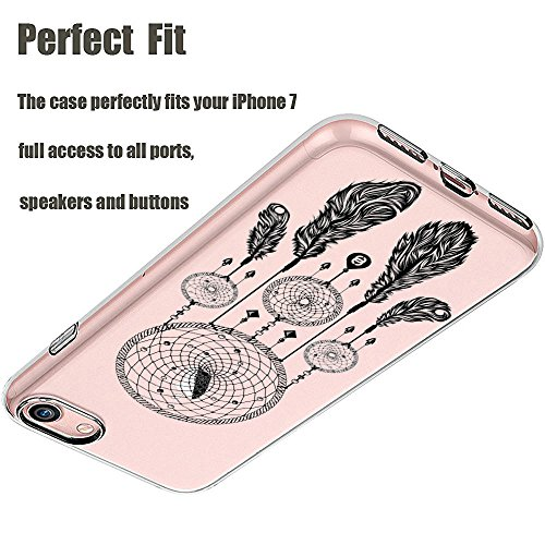 "Vanki® iPhone 7 Funda, Protectiva Carcasa de Silicona de gel TPU Transparente, Ultra delgada, , Amortigua los golpes Case Cover Para iPhone 7 4.7""-Serie de la flor 2"