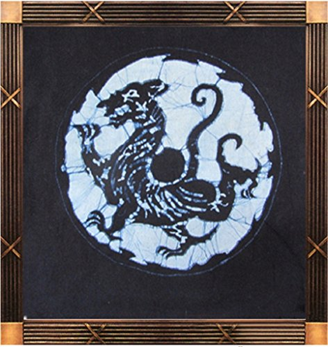 Chinese Batik (Chinoiseriehouse Four Mythical Beasts Series Handmade Batik Painting Wall Decor Tapestry White)