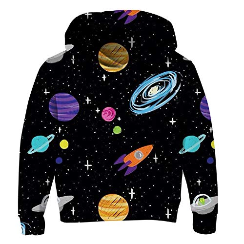 Dye Sweater - Uideazone Supreme Hoodie for Juniors Spaceship Graphic Long Sleeve Fleece Drawstring Pockets Casual Galaxy Pullover Sweatshirts