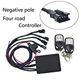 NBWDY Universal High Output 4-key Remote Control 4 channel Negative pole for Single Color LED Motorcycle/car/atv Accent Neon Kit