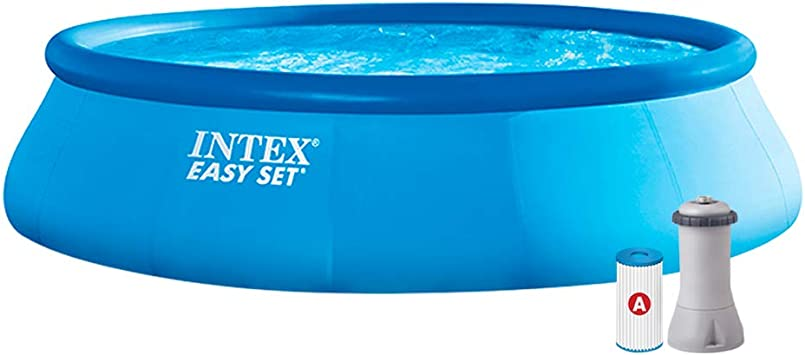 Intex 28166NP - Piscina Hinchable Easy Set 457 x 107 cm, 12.43 litros: Amazon.es: Jardín