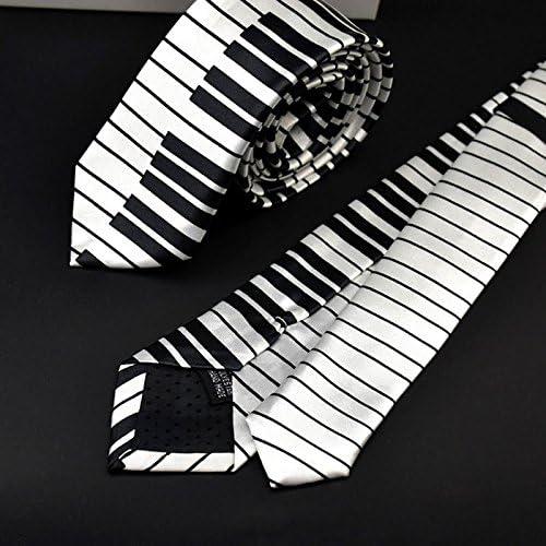 Haptian Corbata de Corbata con Teclado de Piano en Blanco y Negro ...