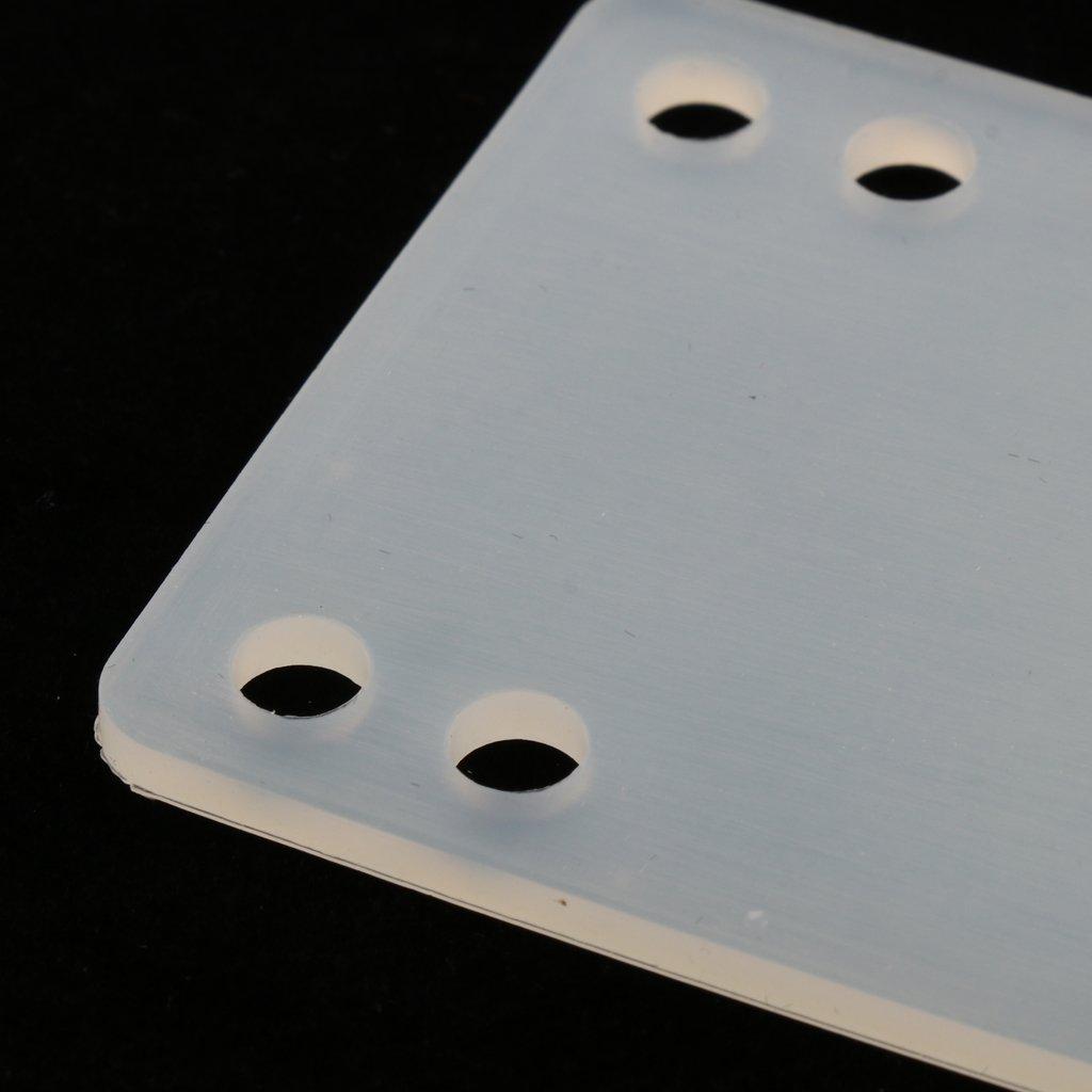 simhoa 3mm 6mm 11mm Durable Rubber Skateboard Riser Pads Set of 2