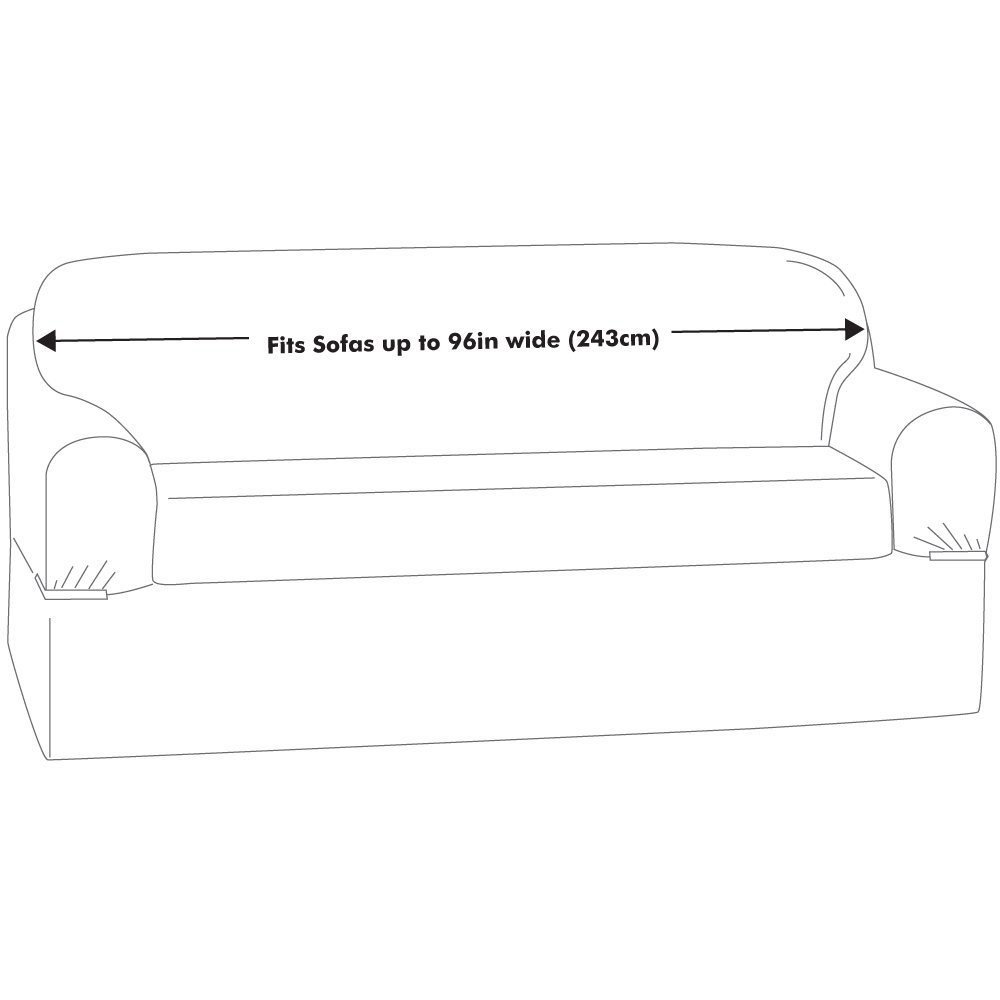 2-Piece Maytex Piped Suede Slipcover Sofa Sage