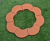 Sold 2pcs PLASTIK MOLDS STONE border Flower garden Garden decor edging #S38