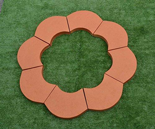 Sold 2pcs PLASTIK MOLDS STONE border Flower garden Garden decor edging #S38 by Betonex