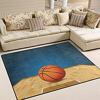 Domoko - Alfombra de Baloncesto 3D para salón, Dormitorio, Tela ...