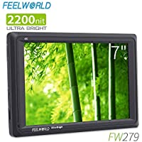 FEELWORLD FW279 7 Inch 2200nit Ultra Bright DSLR Camera...