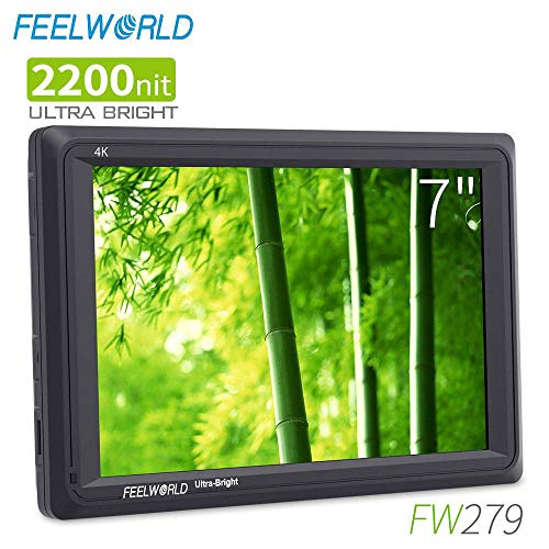 FEELWORLD FW279 7 Inch 2200nit Ultra Bright DSLR Camera Field Monitor High Brightness Sunlight Viewable Full HD 1920×1200 4K HDMI Input Output