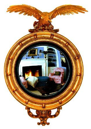 Hickory Manor House HM6437BAR Carved Eagle Convex Mirror/Baroque for sale  Delivered anywhere in USA