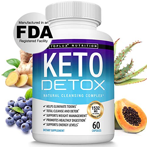 Keto Detox Pills Advanced Cleansing Extract – 1532 Mg Natural Acai Colon Cleanser Formula Using Ketosis & Ketogenic Diet…