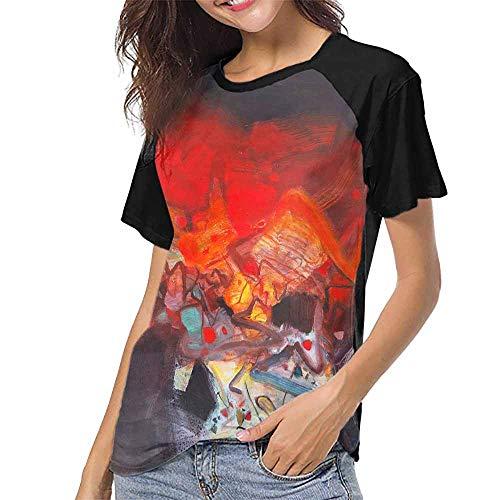 T Shirt,Abstract Modern Art (48) S-XXL Custom Baseball Short Sleeves -