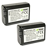 Wasabi Power Battery 2-Pack for Sony NP-FW50 (Compatible with Alpha a7, a7 II, a7R, a7R II, a7S, a7S II, a5000, a5100, a6000, a6300, a6500, NEX-5T, Cyber-Shot DSC-RX10 III and More)