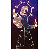 "Vickerman 47"" Angel Nativity Silhouette Lighted Wire Frame Christmas Yard Art Decoration"