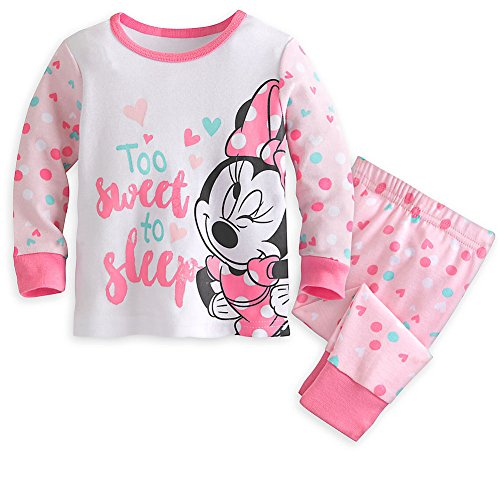 Disney Minnie Mouse PJ PALS Pajama Set for Baby Girl 9-12 Months Pink