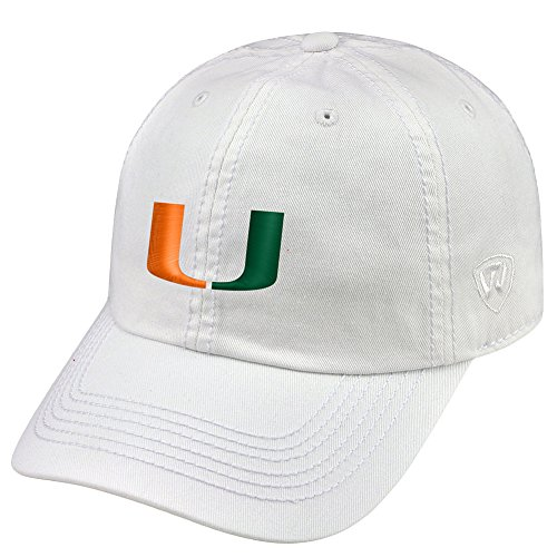Top of the World Miami Hurricanes Men's Hat Icon, White, Adjustable
