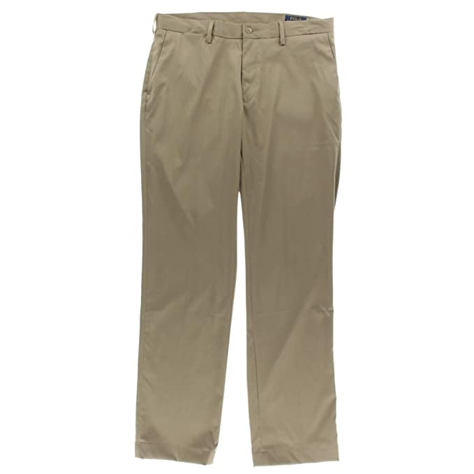 de7b84a0bf169 Polo Ralph Lauren Mens Classic Fit Performance Khaki Pants  Amazon.ca   Clothing   Accessories