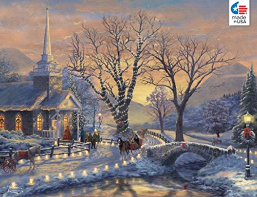 (Ceaco Thomas Kinkade - Holiday Evening Sleigh Ride  Jigsaw Puzzle (1000 Pieces))