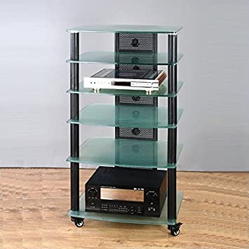 NGR Series Black Framed Audio Video Rack