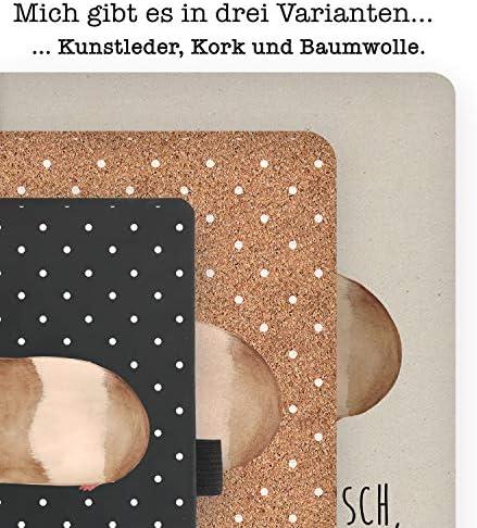 Mr. & Mrs. Panda Kladde, Schreibbuch, DIN A5 Baumwoll Notizbuch Meerschweinchen weise mit Spruch - Farbe Transparent