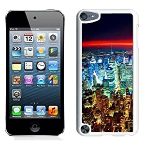 NEW Unique Custom Designed iPod Touch 5 Phone Case With Seattle Night City Lights Red Horizon_White Phone Case