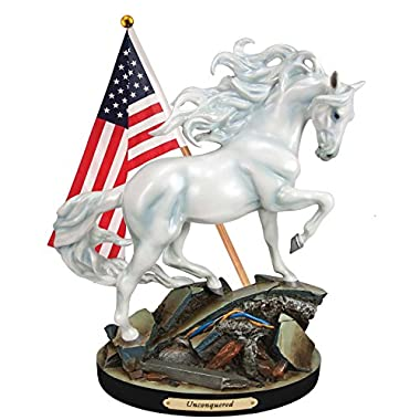 Trail of Painted Ponies Unconquered White Stallion Horse Figurine 4055520 New