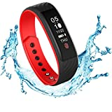 Fitness Tracker, Smart Watch Activity Tracker Touch Screen Smart Sports Bracelet With Heart Rate Tracking/Pedometer /Calorie Counter / Sleep Monitor / Call Message Reminder /Camera Remote Control / Find Your Phone Functions for iPhone Android for Ladies, Women, Men and Kids-W810