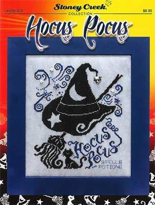 Hocus Pocus (Leaflet 408) Cross Stitch Chart and Free Halloween Embellishment]()