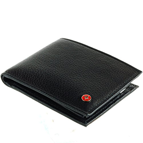 RFID Blocking Men's Leather Classic Bifold Wallet Black - Stops Electronic Pick Pocketing, Works Against Identity Theft & Credit Card Data Breach by Stopping RFID Scans