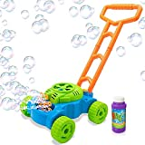 Toys : ArtCreativity Bubble Lawn Mower - Electronic Bubble Blower Machine - Fun Bubbles Blowing Push Toys for Kids - Bubble Solution Included - Best Birthday Gift for Boys, Girls, Toddlers