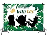 Safari Wild One Photography Backdrop Children Birthday Background Party Decoration Photo Booth Banner7x5ft