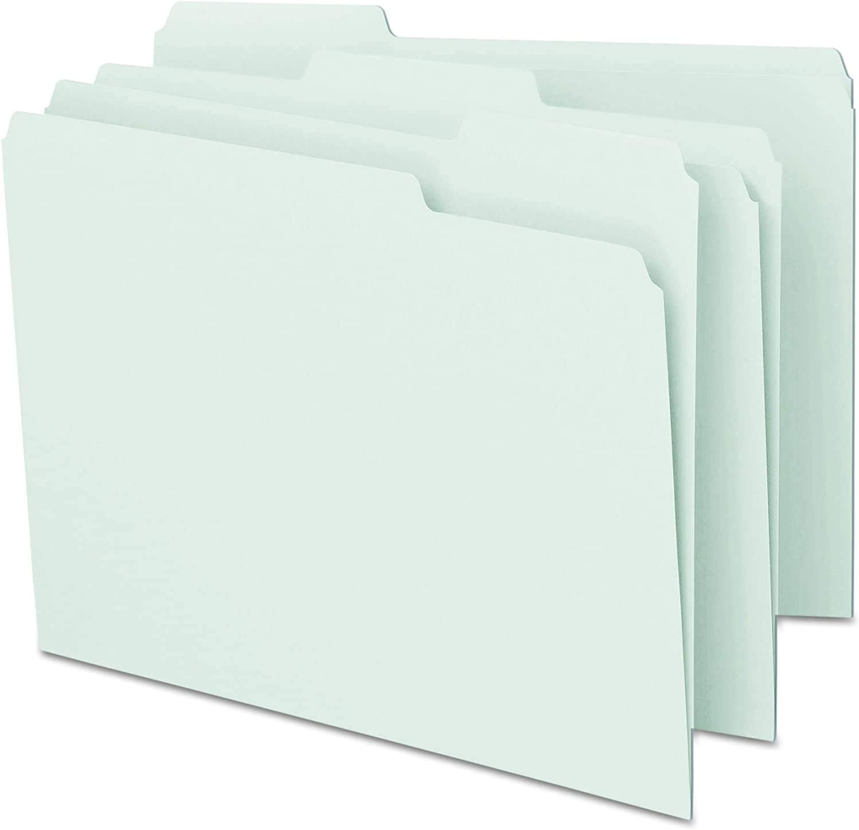 1//3-Cut Tab 100 per Box White 1 Pack Letter Size Smead File Folder