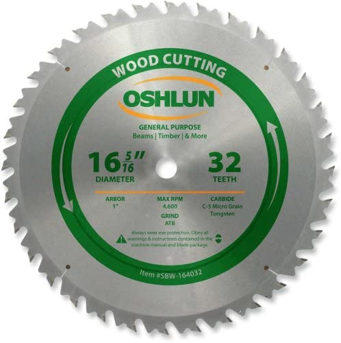 x 32 Tooth 1 in Arbor Saw Blade Diablo-D1632X 16-5//16 in