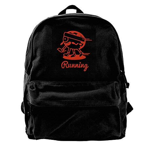 Sports Running Funny Mens And Womens Large Vintage Canvas Backpack School Laptop Bag Hiking Travel (Bumblebee Suit)