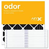 AIRx Filters Odor 24x24x1 Air Filter MERV 4 AC Furnace Pleated Air Filter Replacement Box of 12, Made in the USA