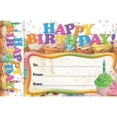 Bookmark Awards Happy Birthday Cupcakes by - Awards Edupress
