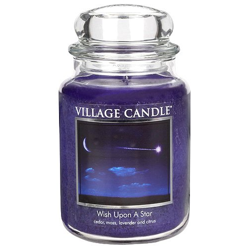 (Village Candle Wish Upon A Star 26 oz Glass Jar Scented Candle, Large)