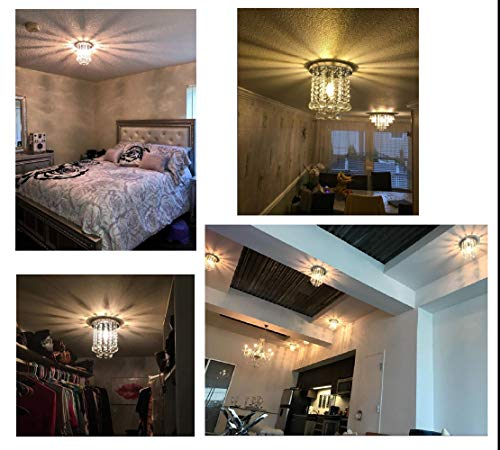 Surpars House Mini Style 1-Light Flush Mount Crystal Chandelier by Surpars House (Image #2)
