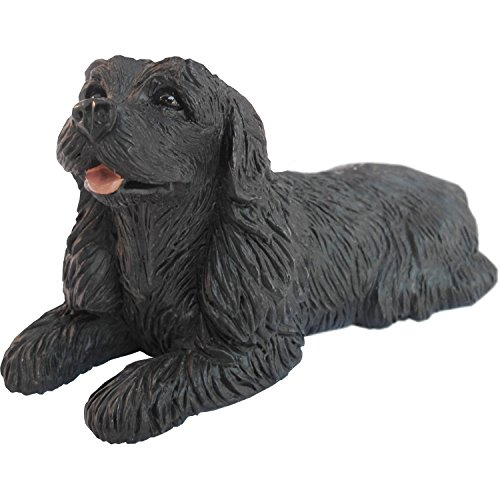 Sandicast Small Size Black Cocker Spaniel Sculpture, (Cocker Spaniel Sculpture)